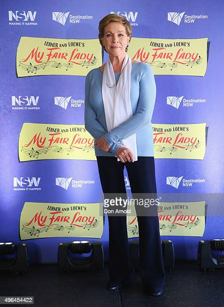 Dame Julie Andrews poses during a mdeia call for the Australian production of My Fair Lady at Sydney Opera House on November 10 2015 in Sydney...