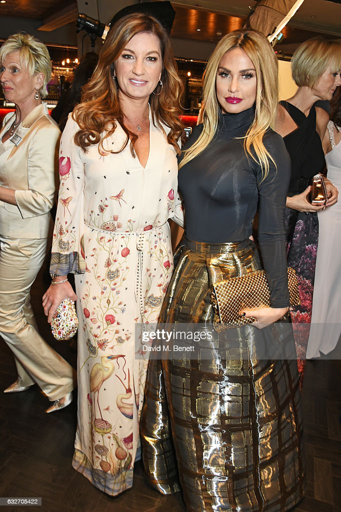 Dame Karren Brady (L) and Katie Price attend the National Television Awards cocktail reception at The O2 Arena on January 25, 2017 in London, England.