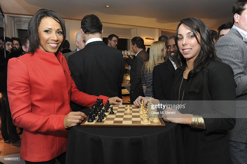 Dame Kelly Holmes and Beth Tweddle attend the launch of the 'Urban Chess' Funding Initiative from East Village at Mortons on March 13, 2013 in London England.