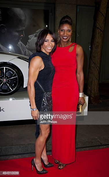 Dame Kelly Holmes and Denise Lewis attend the Jaguar Academy of Sport annual awards at The Royal Opera House on December 8 2013 in London England