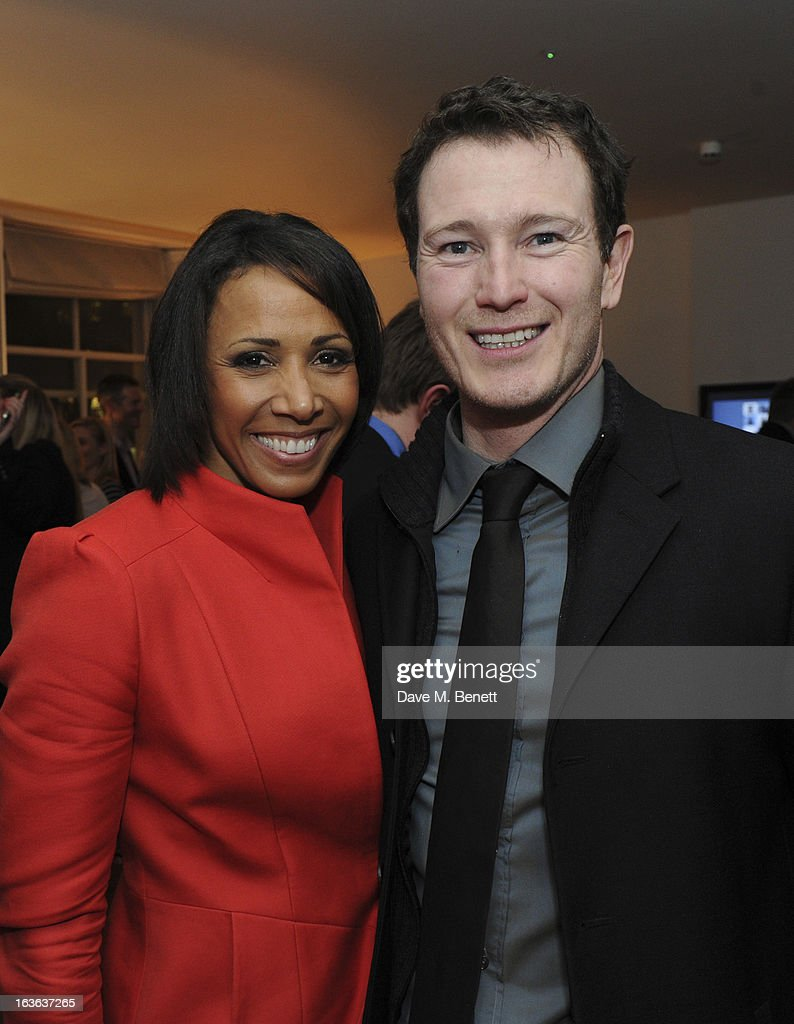 Dame Kelly Holmes and Nick Moran attend the launch of the 'Urban Chess' Funding Initiative from East Village at Mortons on March 13, 2013 in London England.