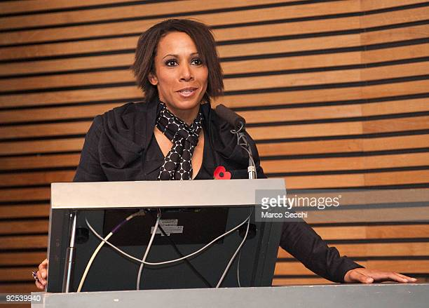 Dame Kelly Holmes at the launch of 'London 2012 Cultural Olympiad' project on October 30 2009 in London England The project will create 100...