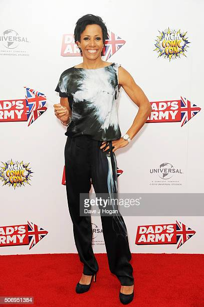 Dame Kelly Holmes attends 'Dad's Army' World Premiere on January 26 2016 in London United Kingdom