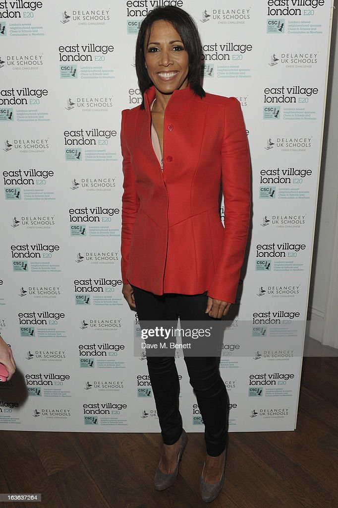 Dame Kelly Holmes attends the launch of the 'Urban Chess' Funding Initiative from East Village at Mortons on March 13, 2013 in London England.