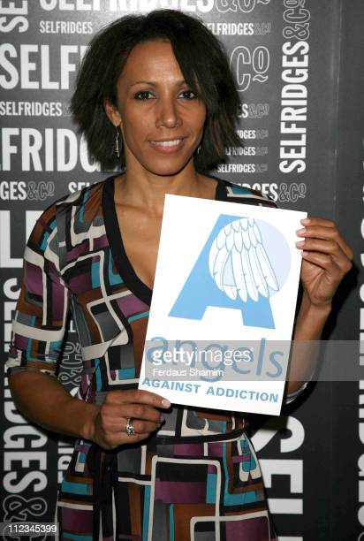 Dame Kelly Holmes during Action On Addiction Charity Event at Selfridges London in London Great Britain