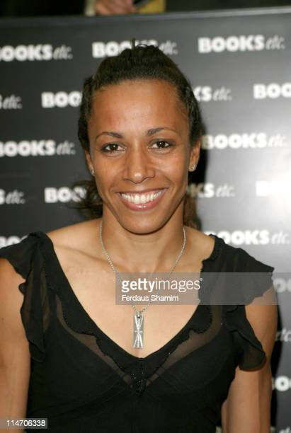 Dame Kelly Holmes during Dame Kelly Holmes Signs Her Book 'Black White Gold' at Books etc in London June 10 2005 at Books etc in London Great Britain