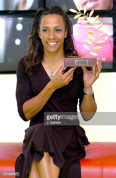 Dame Kelly Holmes during SJA Sportswoman of the Year Awards Photocall at Sport England in London Great Britain