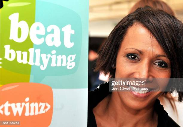 Dame Kelly Holmes the Olympic double Gold Medallist at the launch of the Cyber Mentors website The programme aims to tackle cyber bullying of...