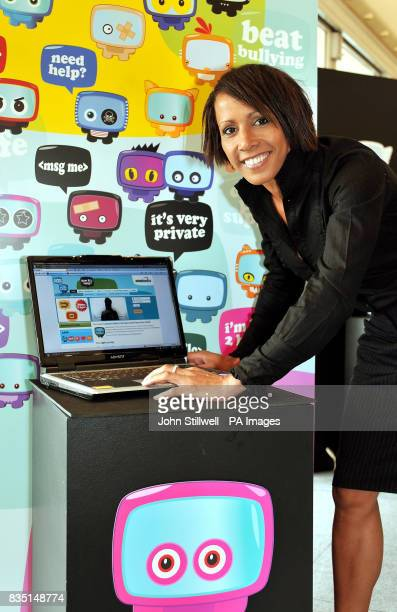 Dame Kelly Holmes the Olympic double Gold Medallist views the Cyber Mentors website the programme aims to tackle cyber bullying of youngsters using...