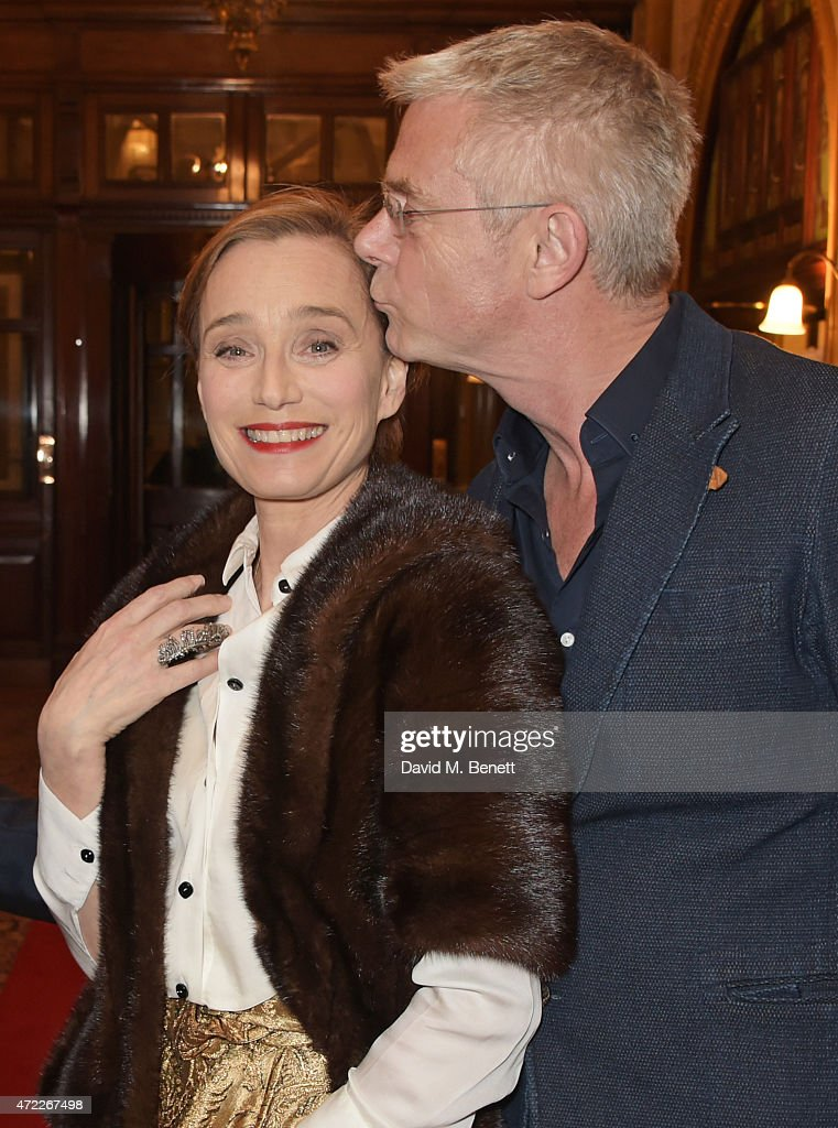Dame Kristin Scott Thomas (L) and director Stephen Daldry attend an after party following the press night performance of 'The Audience' at The Royal Horseguards Hotel on May 5, 2015 in London, England.