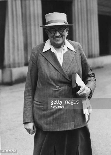 Dame Lilian Barker CBE Assistant Commissioner and Inspector of HM prisons after receiving an OBE at Buckingham Palace London July 1944