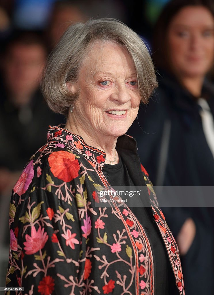 Dame <a gi-track='captionPersonalityLinkClicked' href=/galleries/search?phrase=Maggie+Smith&family=editorial&specificpeople=206821 ng-click='$event.stopPropagation()'>Maggie Smith</a> attends a screening of 'The Lady In The Van' during the BFI London Film Festival at Odeon Leicester Square on October 13, 2015 in London, England.