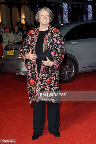 Dame Maggie Smith attends a screening of 'The Lady In The Van' during the BFI London Film Festival at Odeon Leicester Square on October 13 2015 in...