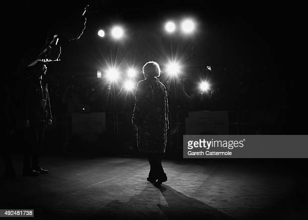 Dame Maggie Smith attends the Centrepiece Gala supported by the Mayor of London for the premiere of 'The Lady In The Van' at Odeon Leicester Square...