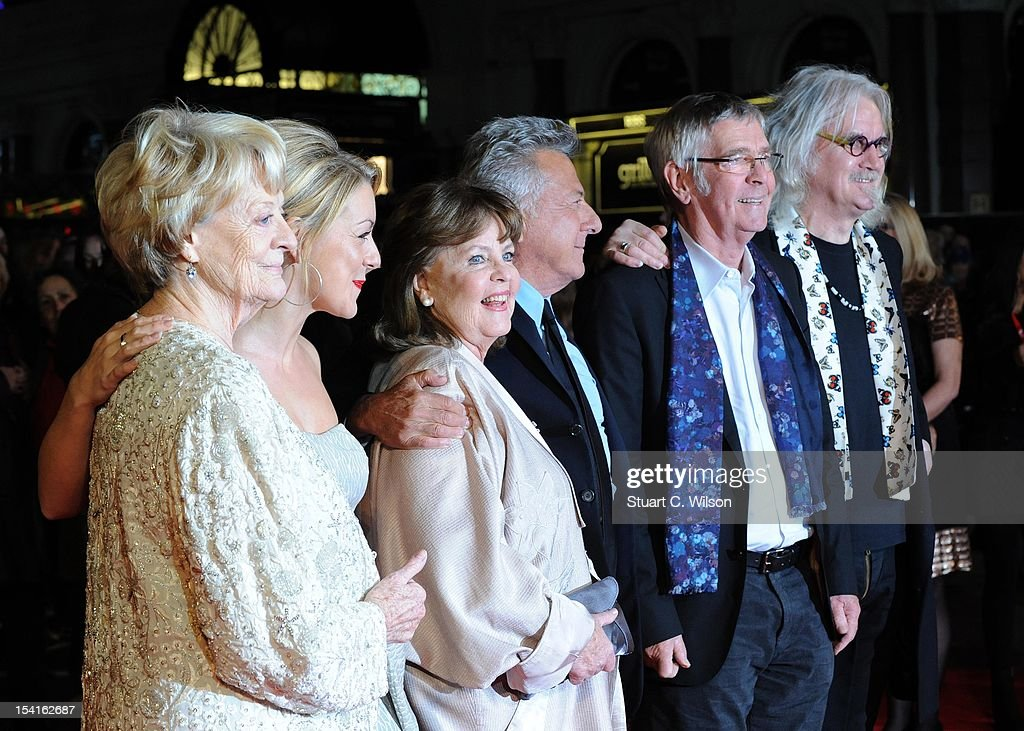 Dame Maggie Smith, Sheridan Smith, Pauline Collins, Dustin Hoffman, Tom Courtenay and Billy Connolly attend the Premiere of 'Quartet' during the 56th BFI London Film Festival at Odeon Leicester Square on October 15, 2012 in London, England.