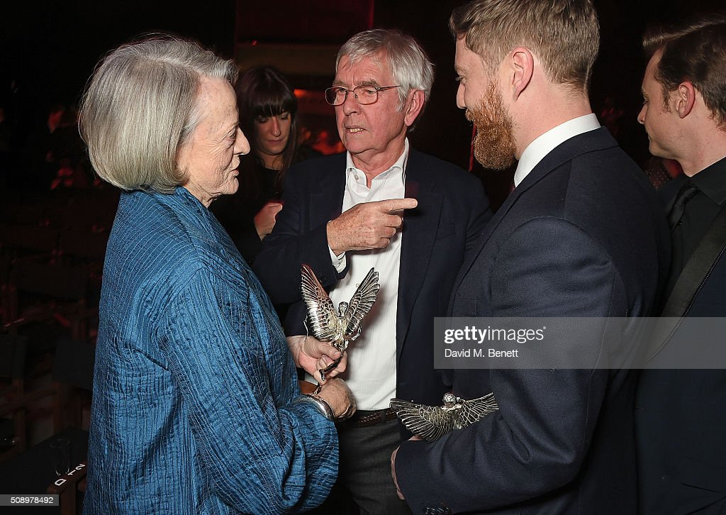 Dame <a gi-track='captionPersonalityLinkClicked' href=/galleries/search?phrase=Maggie+Smith&family=editorial&specificpeople=206821 ng-click='$event.stopPropagation()'>Maggie Smith</a>, Sir <a gi-track='captionPersonalityLinkClicked' href=/galleries/search?phrase=Tom+Courtenay&family=editorial&specificpeople=699230 ng-click='$event.stopPropagation()'>Tom Courtenay</a> and <a gi-track='captionPersonalityLinkClicked' href=/galleries/search?phrase=Tristan+Goligher&family=editorial&specificpeople=7877656 ng-click='$event.stopPropagation()'>Tristan Goligher</a> attend the London Evening Standard British Film Awards at Television Centre on February 7, 2016 in London, England.