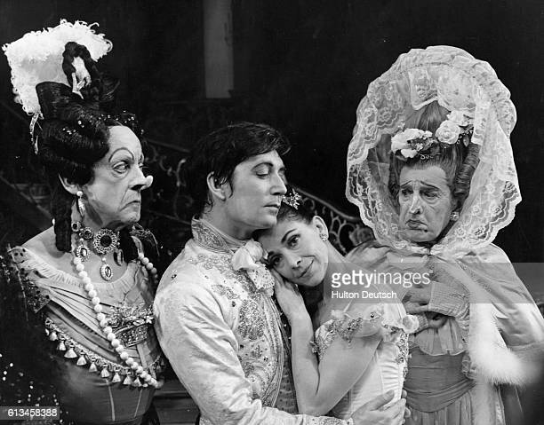 Dame Margot Fonteyn plays Cinderella David Blair plays the Prince and Robert Helpmann and Sir Frederick Ashton are the Ugly Sisters in the Royal...