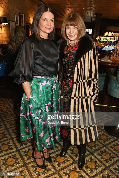 Dame Natalie Massenet and Anna Wintour attend The Fashion Awards in partnership with Swarovski nominees' lunch hosted by the British Fashion Council...