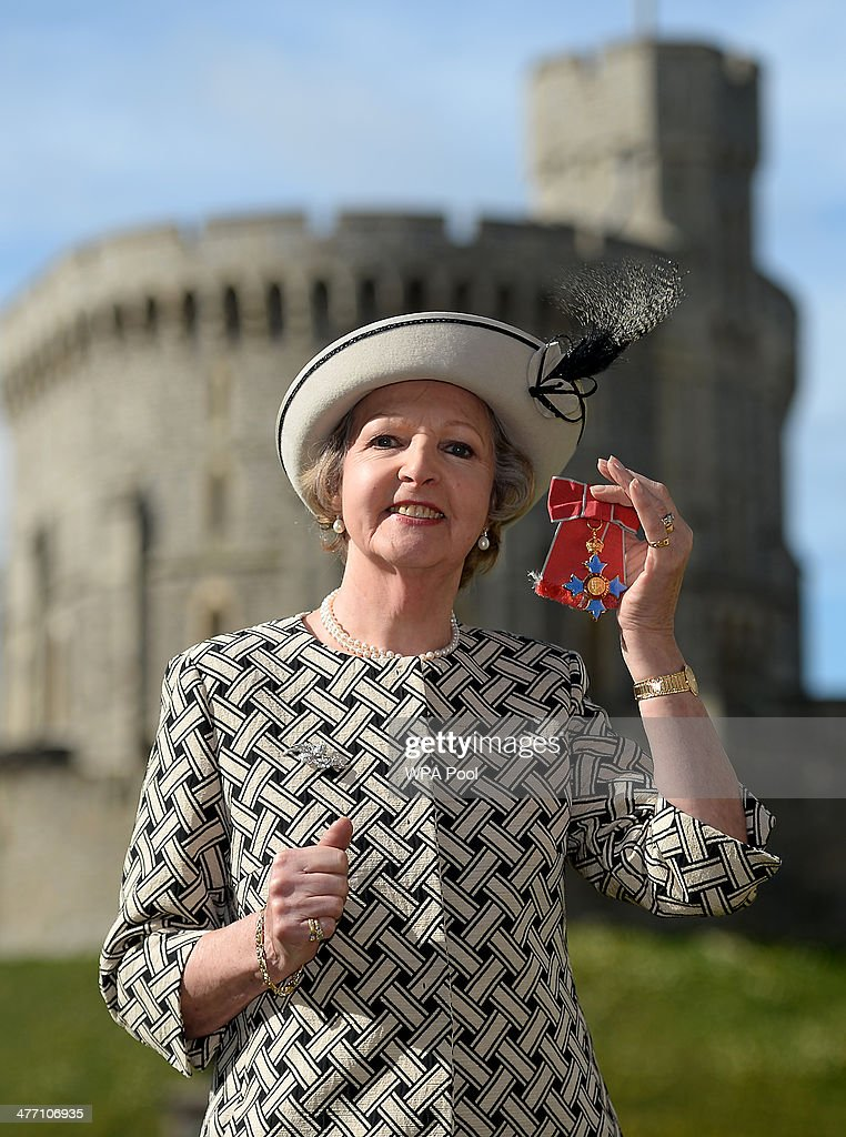 Dame <a gi-track='captionPersonalityLinkClicked' href=/galleries/search?phrase=Penelope+Keith&family=editorial&specificpeople=655104 ng-click='$event.stopPropagation()'>Penelope Keith</a> after she was made a Dame Commander for services to the Arts and to charity during an Investiture ceremony at Windsor Castle on March 7, 2014 in Windsor, England.