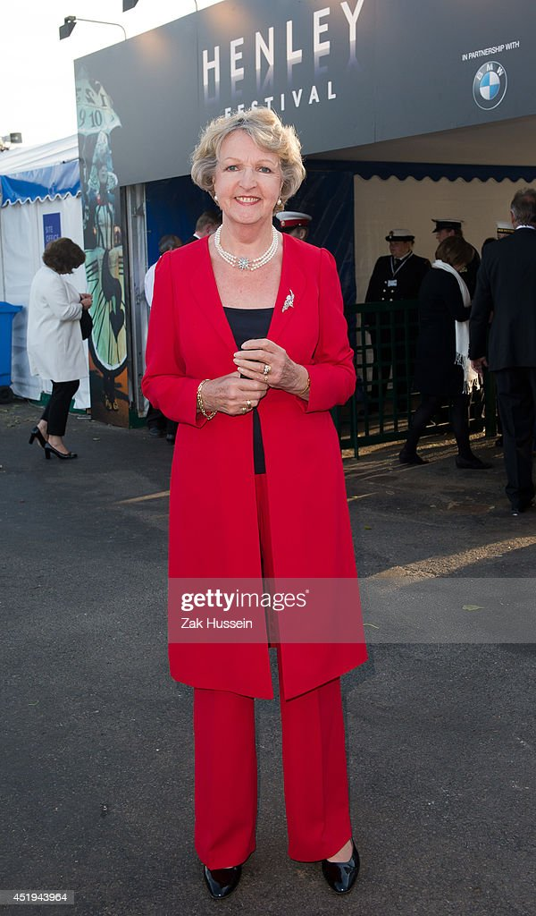 Dame Penelope Keith attends The Henley Festival on July 9 2014 in HenleyonThames England