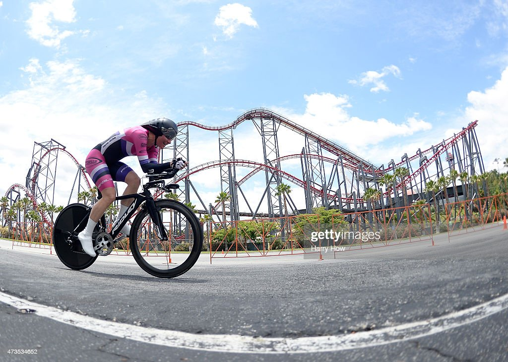 Dame Sarah Storey of Great Britain races in the women's individual time trial during the 2015 Amgen Tour of California on May 15 2015 in Valencia...