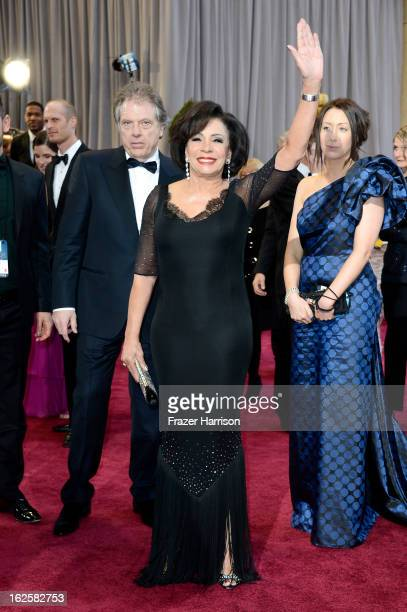 Dame Shirley Bassey arrives at the Oscars at Hollywood Highland Center on February 24 2013 in Hollywood California