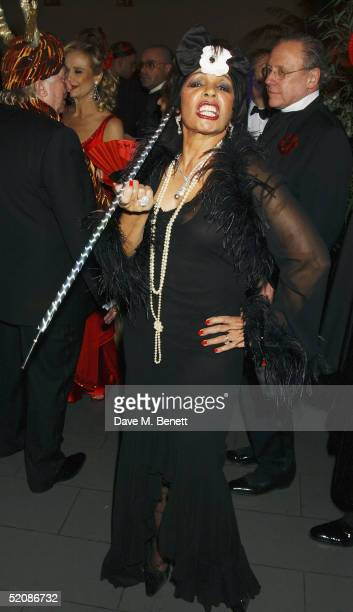 Dame Shirley Bassey attend the Chinese New Year Party hosted by Andy and Pattie Wong at the Great Eastern Hotel on January 29 2005 in London