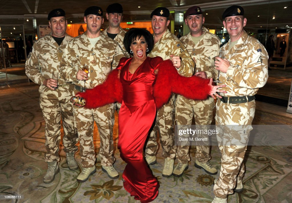 Dame Shirley Bassey attends Fashion For The Brave at The Dorchester Hotel on October 26, 2010 in London, England.