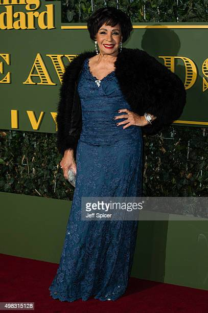 Dame Shirley Bassey attends the Evening Standard Theatre Awards at The Old Vic Theatre on November 22 2015 in London England