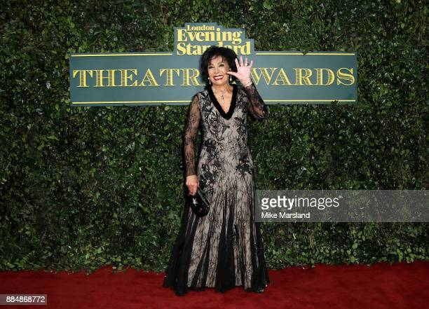 Dame Shirley Bassey attends the London Evening Standard Theatre Awards at Theatre Royal on December 3 2017 in London England