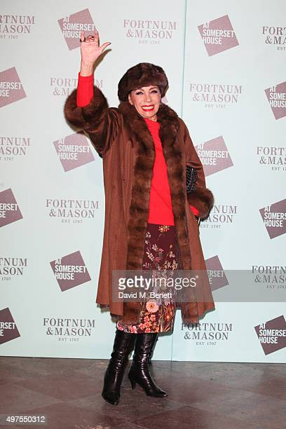 Dame Shirley Bassey attends the opening party of Skate at Somerset House with Fortnum Mason at Somerset House on November 17 2015 in London England...