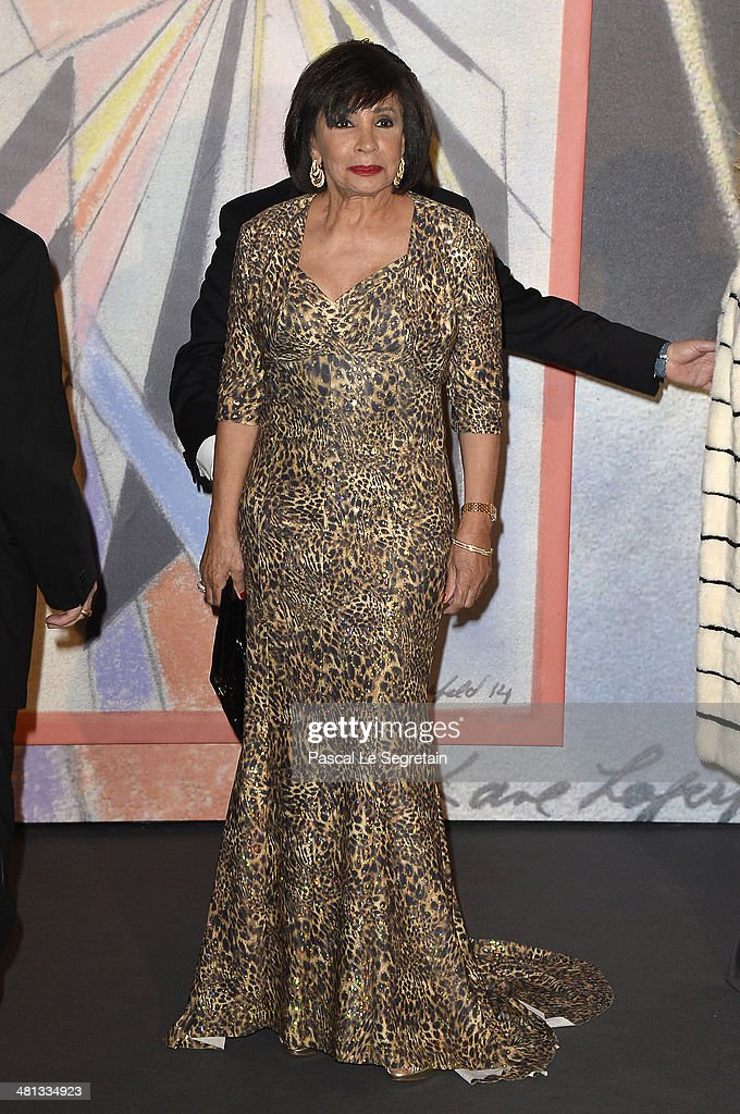 Dame <a gi-track='captionPersonalityLinkClicked' href=/galleries/search?phrase=Shirley+Bassey&family=editorial&specificpeople=160658 ng-click='$event.stopPropagation()'>Shirley Bassey</a> attends the Rose Ball 2014 in aid of the Princess Grace Foundation at Sporting Monte-Carlo on March 29, 2014 in Monte-Carlo, Monaco.