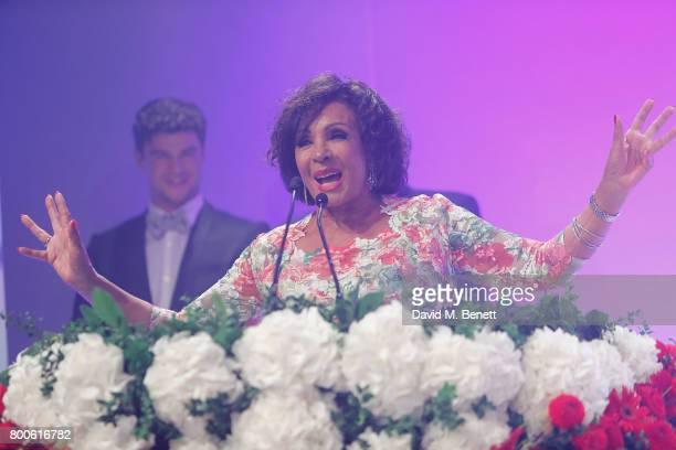 Dame Shirley Bassey performs at the Jersey Style Awards 2017 in association with Chopard at The Royal Jersey Showground on June 24 2017 in Trinity...