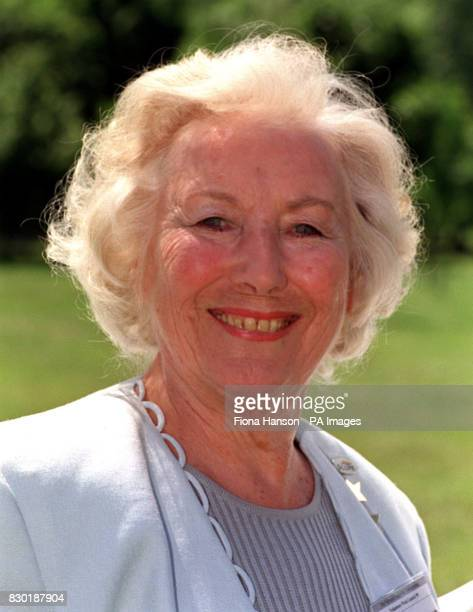 Dame Vera Lynn attends the launch of Volunteers Week in Green Park London Dame Lynn is the Chair of SOS and volunteers with the charity SCOPE * Dame...