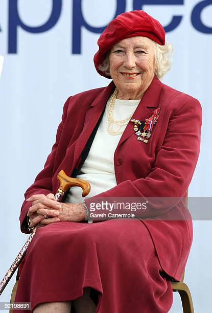 Dame Vera Lynn attends the Poppy Appeal For Afghan Generation launch on October 22 2009 in London England