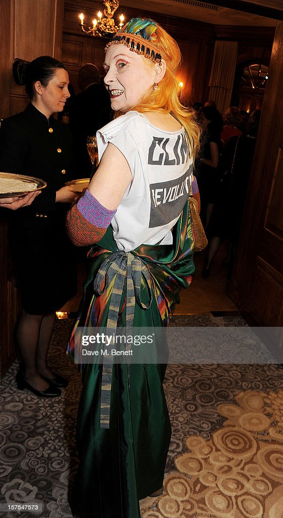 Dame Vivienne Westwood attends a cocktail reception at the 4th Fortune Forum Summit held at The Dorchester on December 4, 2012 in London, England.