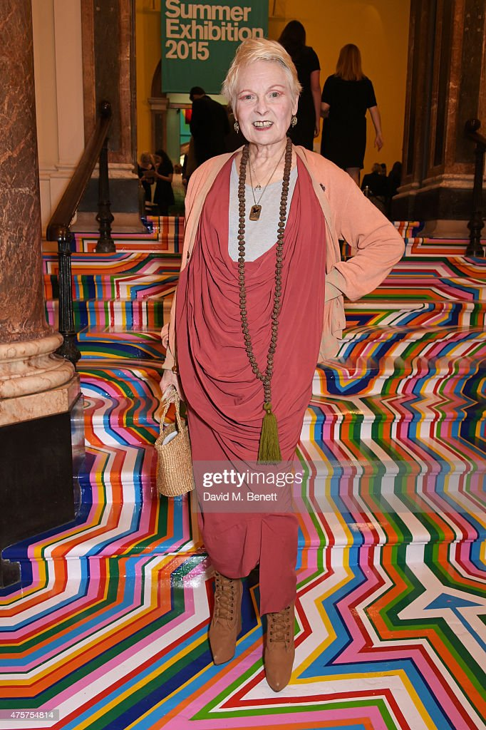 Dame Vivienne Westwood attends the Royal Academy of Arts Summer Exhibition preview party at the Royal Academy of Arts on June 3, 2015 in London, England.