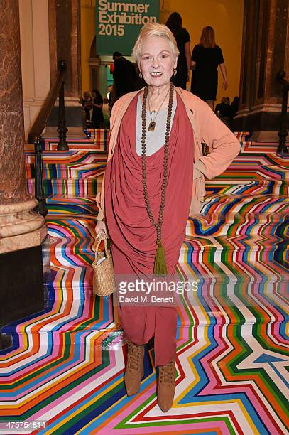 Dame Vivienne Westwood attends the Royal Academy of Arts Summer Exhibition preview party at the Royal Academy of Arts on June 3 2015 in London England