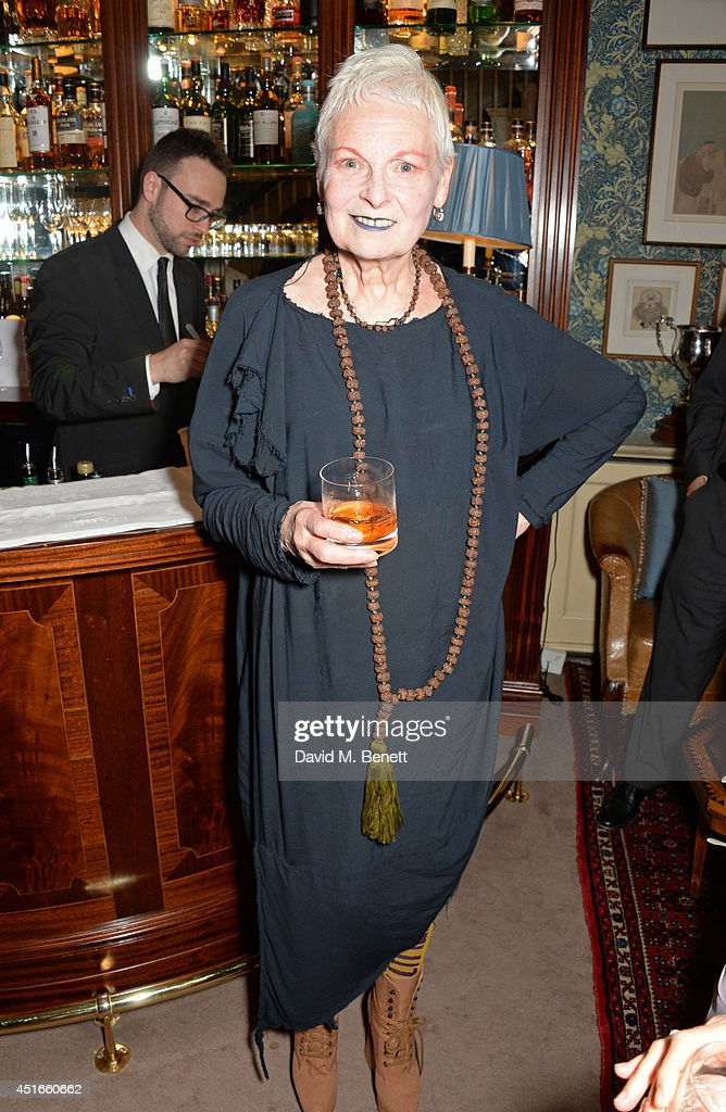 Dame <a gi-track='captionPersonalityLinkClicked' href=/galleries/search?phrase=Vivienne+Westwood+-+Fashion+Designer&family=editorial&specificpeople=853100 ng-click='$event.stopPropagation()'>Vivienne Westwood</a> attends Tracey Emin's birthday party at Mark's Club on July 3, 2014 in London, England.