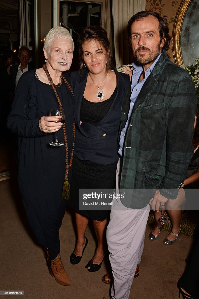 Dame <a gi-track='captionPersonalityLinkClicked' href=/galleries/search?phrase=Vivienne+Westwood+-+Fashion+Designer&family=editorial&specificpeople=853100 ng-click='$event.stopPropagation()'>Vivienne Westwood</a>, <a gi-track='captionPersonalityLinkClicked' href=/galleries/search?phrase=Tracey+Emin&family=editorial&specificpeople=203219 ng-click='$event.stopPropagation()'>Tracey Emin</a> and <a gi-track='captionPersonalityLinkClicked' href=/galleries/search?phrase=Andreas+Kronthaler+-+Fashion+Designer&family=editorial&specificpeople=15476285 ng-click='$event.stopPropagation()'>Andreas Kronthaler</a> attend <a gi-track='captionPersonalityLinkClicked' href=/galleries/search?phrase=Tracey+Emin&family=editorial&specificpeople=203219 ng-click='$event.stopPropagation()'>Tracey Emin</a>'s birthday party at Mark's Club on July 3, 2014 in London, England.
