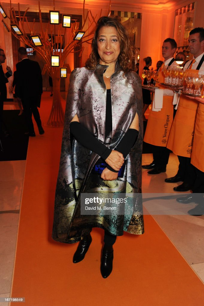 Dame Zaha Hadid, winner of the Veuve Clicquot Business Woman Award 2013, attends the Veuve Clicquot Business Woman Award 2013 at Claridge's Hotel on April 22, 2013 in London, England.