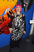 Dame Zandra Rhodes attends a party to celebrate becoming a Dame at The Fashion and Textile Museum on February 13 2015 in London England