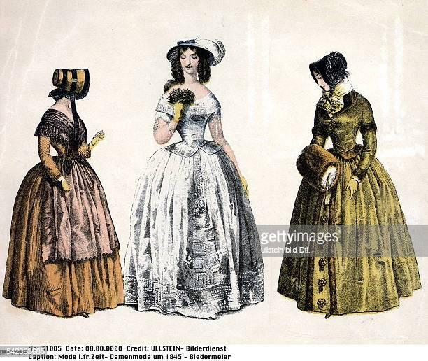Damenmode um 1845 Biedermeier