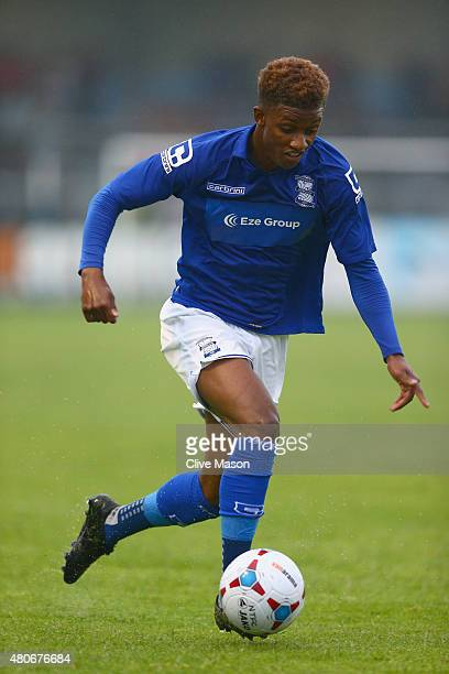 Damerai Gray of Birmingham City in action during the pre season friendly match between Nuneaton Town and Birmingham City at the James Parnell Stadium...
