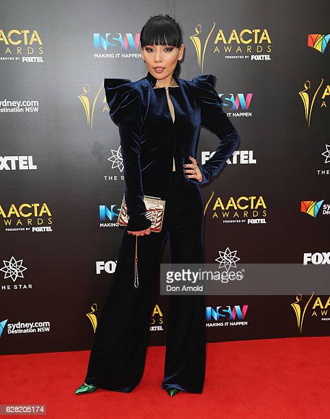 Dami Im arrives ahead of the 6th AACTA Awards at The Star on December 7 2016 in Sydney Australia