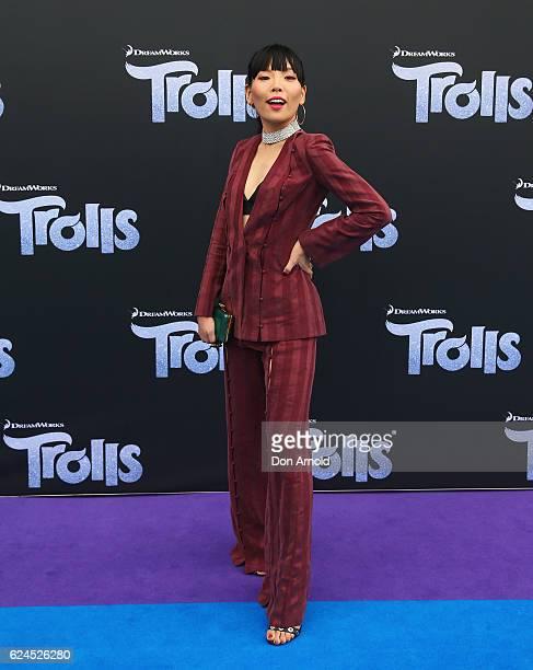 Dami Im arrives at the 'Trolls' Australian Premiere on November 20 2016 in Sydney Australia