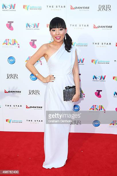 Dami Im arrives for the 29th Annual ARIA Awards 2015 at The Star on November 26 2015 in Sydney Australia