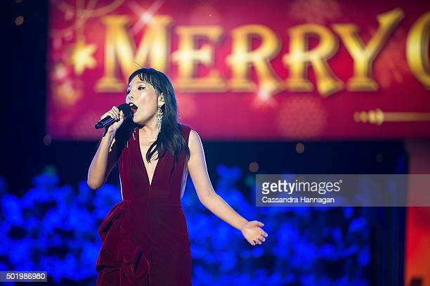 Dami Im performs during Woolworths Carols in the Domain at The Domain on December 19 2015 in Sydney Australia Woolworths Carols in the Domain is...