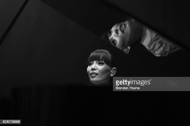 Dami Im prepares backstage during the 6th AACTA Awards Presented by Foxtel at The Star on December 7 2016 in Sydney Australia
