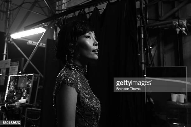 Dami Im prepares backstage during Woolworths Carols in the Domain at The Domain on December 18 2016 in Sydney Australia Woolworths Carols in the...